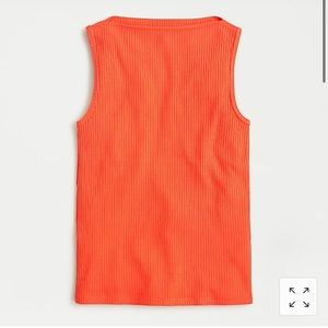 NWT J. Crew orange ribbed bateau tank